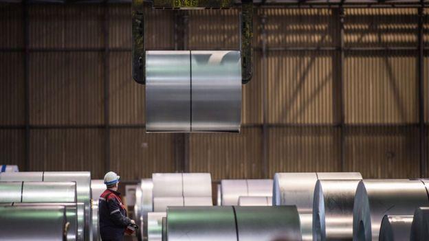 A steel factory