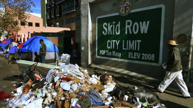 Skid Row, Los Ángeles