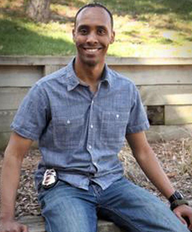 An undated photo of Officer Mohamed Noor released by the Minneapolis Police Department.