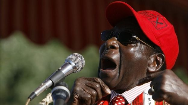 Robert Mugabe in 2008