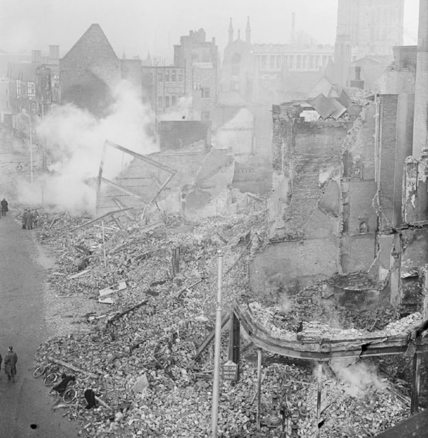 When the UK was bombed nightly for eight months in a row