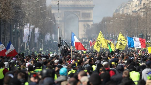 Париж, протести