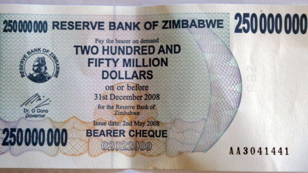 Trong những năm 2006-2008, Zimbabwe rơi vào lạm phát kỷ lục