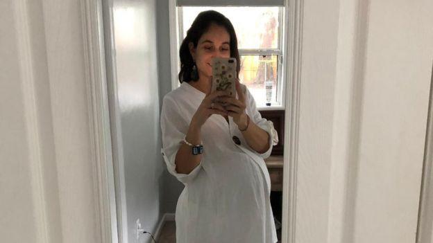 Isidora el día antes del parto
