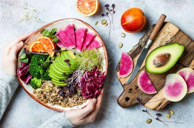 Un plato vegano