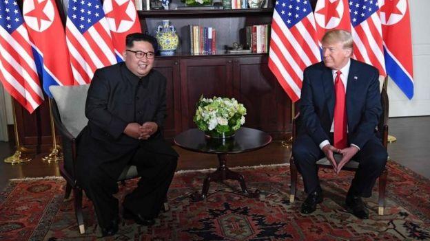 Kim Jong-un y Donald Trump