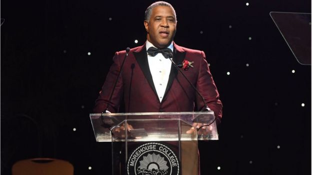 ATLANTA, GA - FEBRUARY 17: Robert F. Smith, Founder, Chairman and CEO Vista Equity Partners speaks onstage Morehouse College 30th Annual A Candle In The Dark Gala at The Hyatt Regency Atlanta on February 17, 2018 in Atlanta, Georgia. (Photo by Paras Griffin/Getty Images)