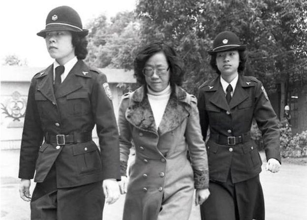 吕秀莲在美丽岛事件被捕。(照片由受访者提供)
