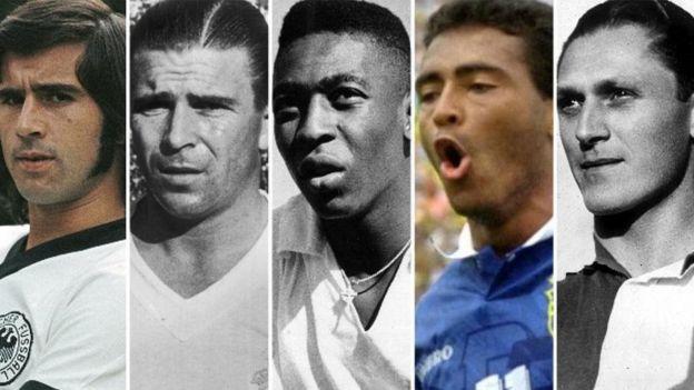 گرد مولر، فرانس پوشکاش، پله، روماریو و جوزف بیکان تنها بازیکنانی هستند که بیشتر از رونالدو گل زدهاند