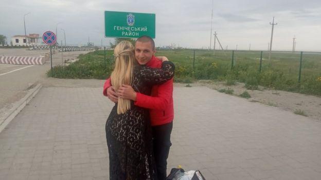 Руслана Кондратюка зустрічають на межі Генічеського району