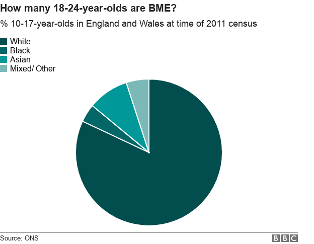 how many 18-24-year-olds are BME?