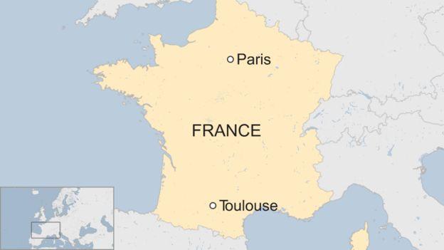 Image result for toulouse france map
