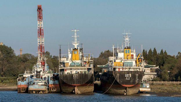 Barcos norcoreanos