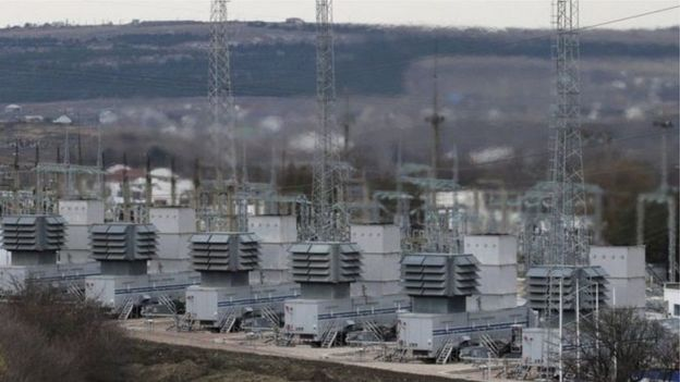 Electric power plant of Ukraine.
