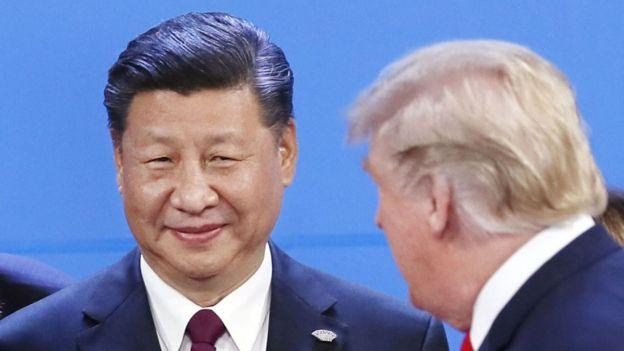 الرئيس الصيني تشي جينبينغ والرئيس الأمريكي دونالد ترامب، 30 تشرين الثاني/نوفمبر 2018