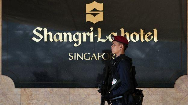 Khách sạn Shangri-la của Singapore thường xuyên tổ chức các sự kiện ngoại giao quốc tế