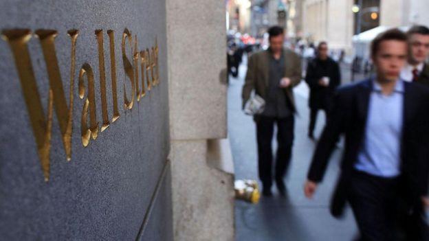 Homens em Wall Street