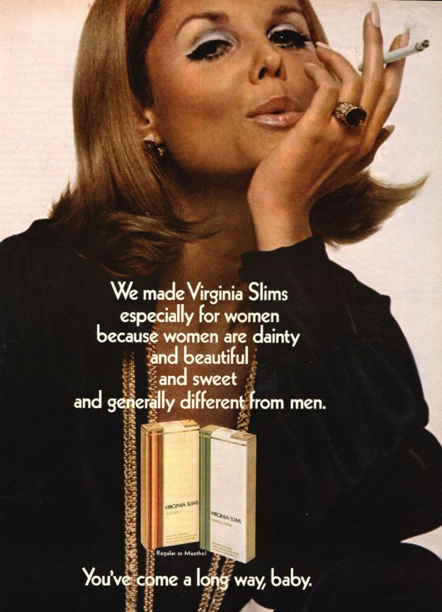 A Virginia Slims magazine advert from 1976