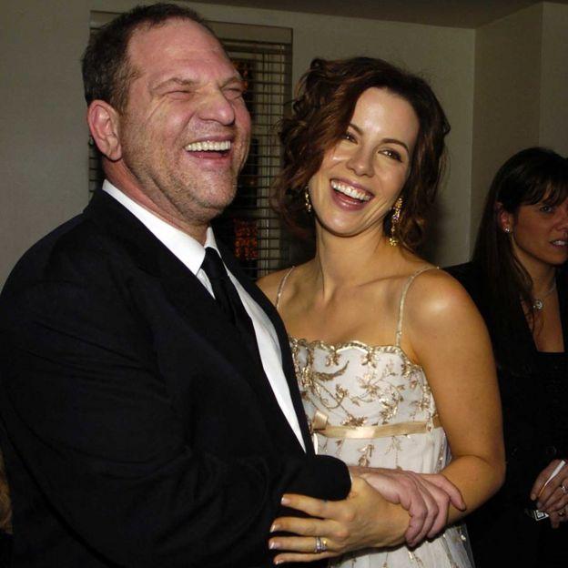 Harvey Weinstein and Kate Beckinsale