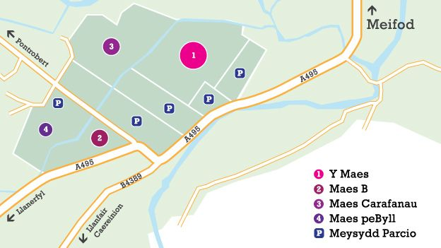 Map of the Eisteddfod