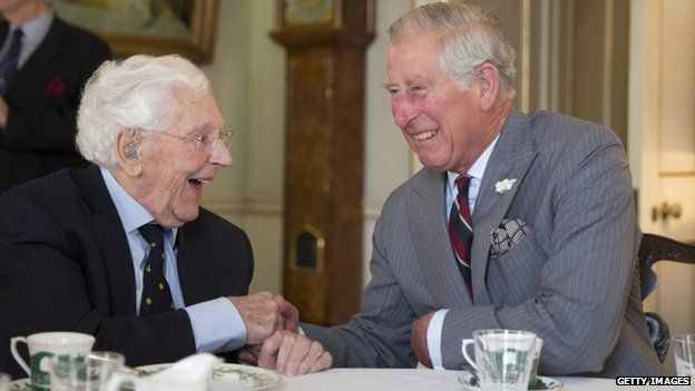Owen Burns with Prince Charles