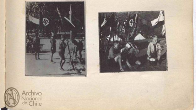 Fotografías incluidas en los archivos desclasificados por la Policía de Investigaciones sobre una red de espionaje de la Alemania nazi en Chile.
