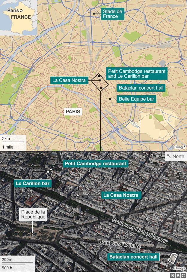 map of attack sites