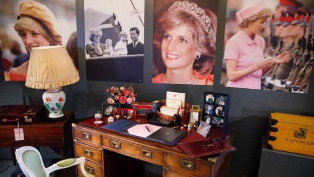 王室禮物展覽有關戴安娜王妃的展品