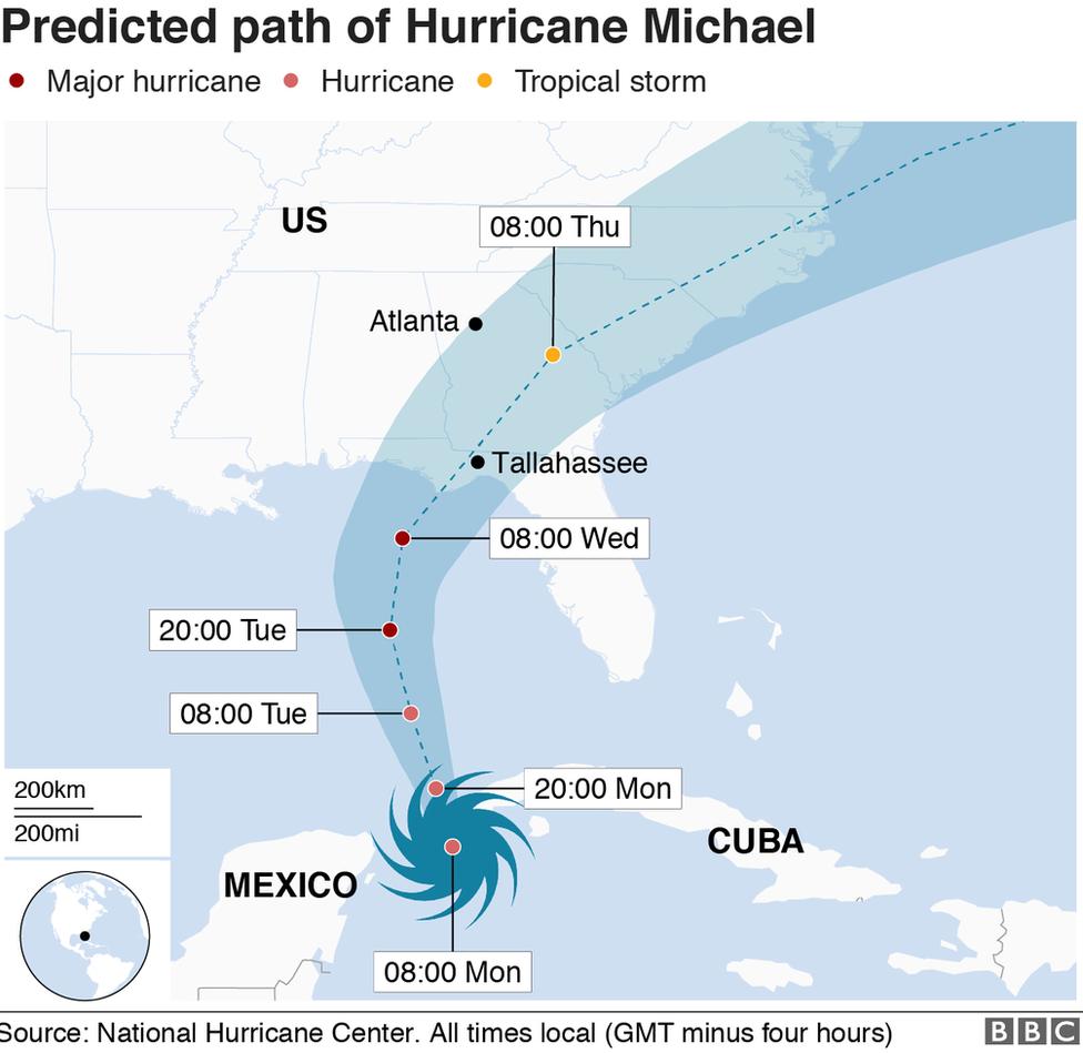 Hurricane Michael Florida Braces For Life Threatening Storm Bbc News
