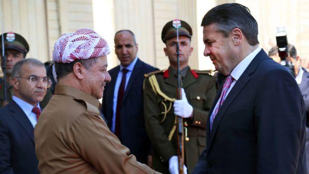 Mesud Barzani ve Sigmar Gabriel