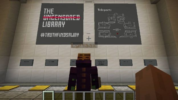 Minecraft library transporter