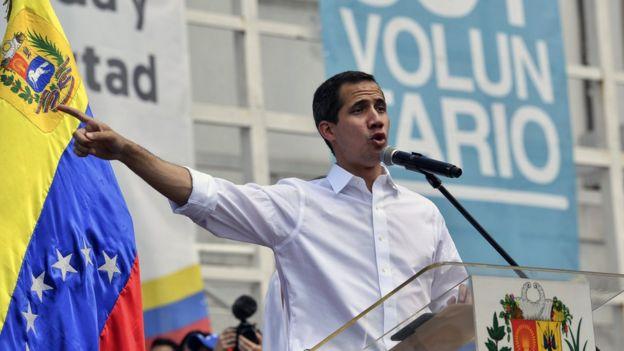 Juan Guaidó durante un acto el pasado sábado.