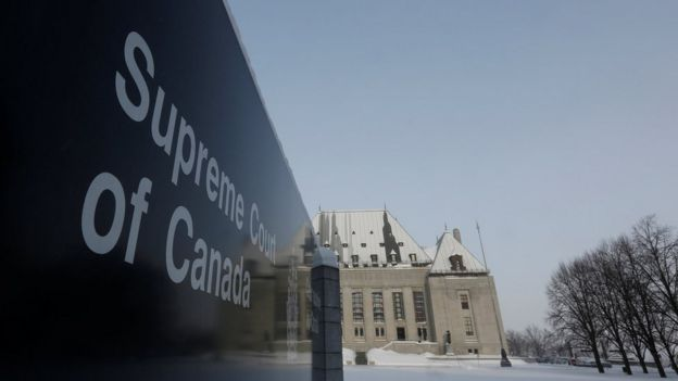 A view shows the Supreme Court of Canada in Ottawa February 6, 2015