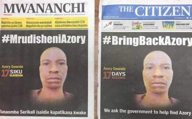 Magazeti ya mwananchi leo yameongoza na kichwa cha habari #MrudisheniAzory