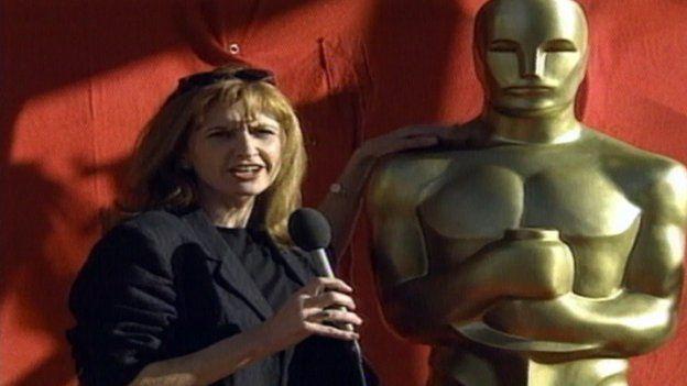 Jackie bird at the Oscars