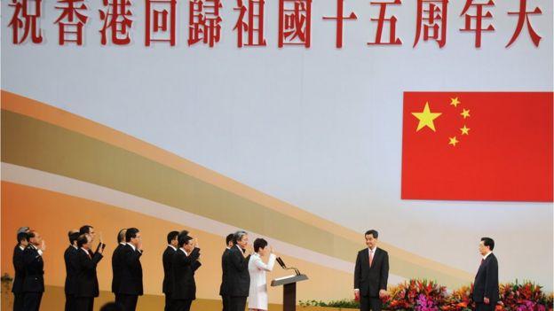 2012年胡锦涛第三次访港,出席香港特别行政区成立十五周年纪念活动及新政府就职仪式。