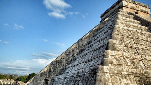 Pirámide en Chichen Itzá.