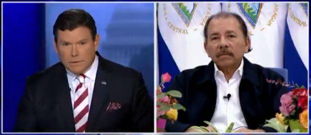 Bret Baier y Daniel Ortega en Fox News