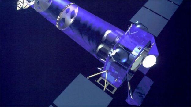 用于观测黑洞心跳的欧洲空间局XMM-牛顿卫星示意图