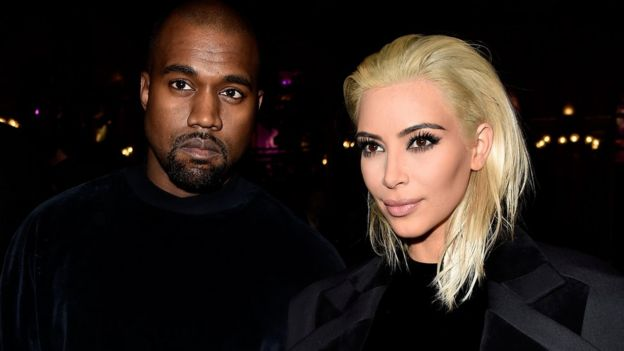 Kanye West and his wife Kim Kardashian who have been married since 2014