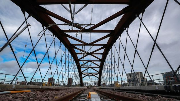 The Ordsall Chord bridge