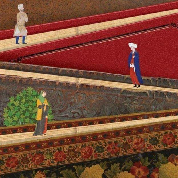 بخشی از پوستر سی و دومین نمایشگاه بینالمللی کتاب تهران اثر حمید رضا بیدقی