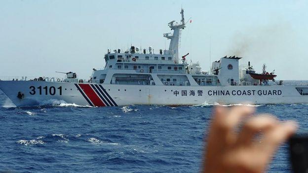 Một tàu hải cảnh của Trung Quốc