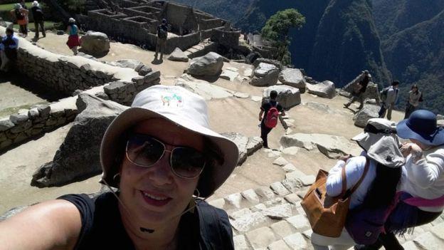 Flora Contin em Macchu Picchu