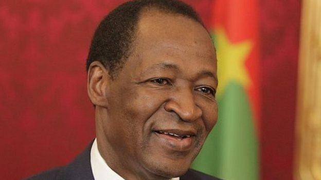 Blaise Compaore of Burkina Faso is pictured during a press conference after his meeting with President Heinz Fischer of Austria on June14, 2013 in Vienna