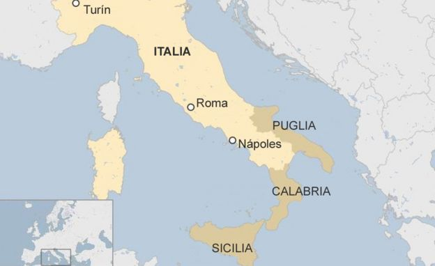 Mapa de Italia