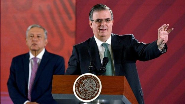 Marcelo Ebrard y López Obrador.