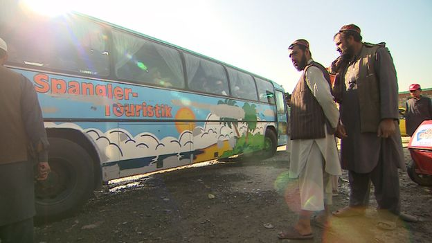 Buses leave Kabul every day carrying men looking for a better life