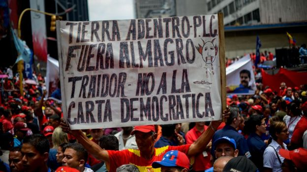 Protesta contra OEA