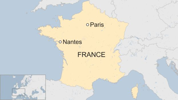 Map Of France Nantes.Nantes Riots France Policeman Formally Investigated Over Shooting